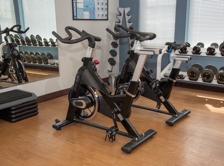 Second fitness center with bikes