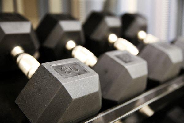 Free weights at Calhoun Towers, Minneapolis, MN, 55416