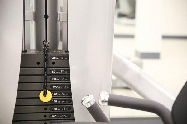 Weight machine at Calhoun Towers, Minneapolis, MN