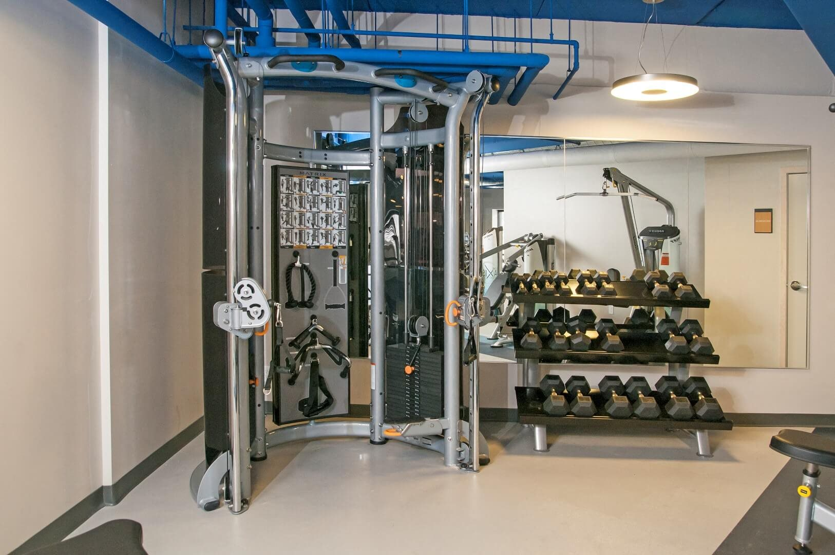 Fitness Center with updated equipment at The Axis, Plymouth