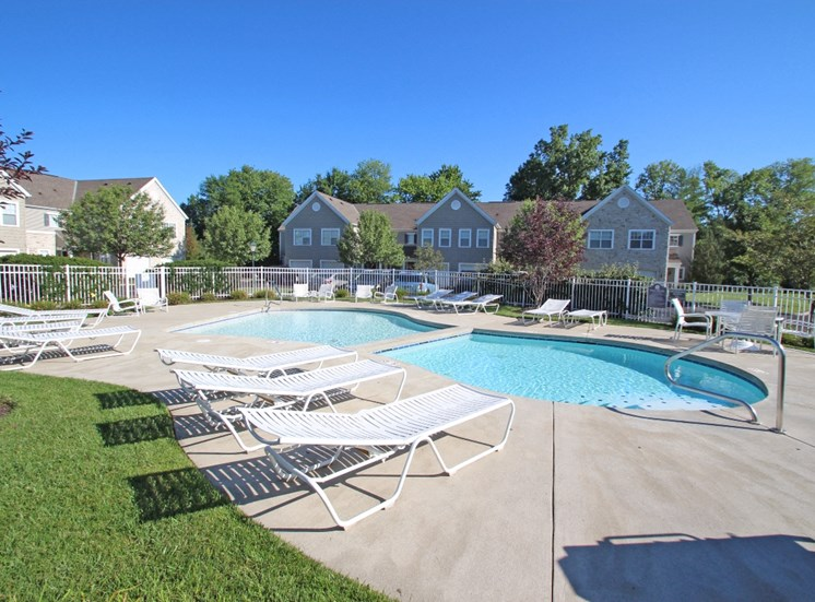 This is a picture of the second pool area at Nantucket Apartments, in Loveland, OH.