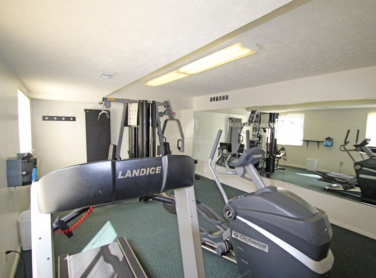 This is a photo of the fitness center at Blue Grass Manor Apartments in Erlanger, KY