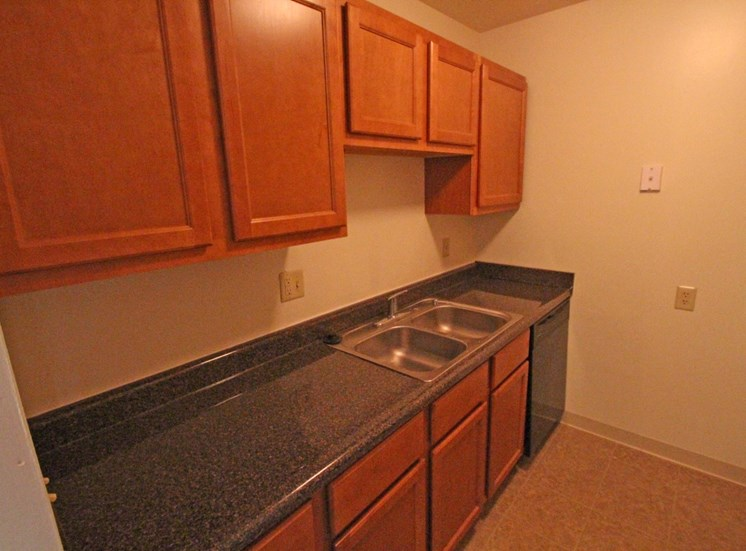 This is a photo of the kitchen in an 1100 square foot 3 bedroom apartment at Park Lane Apartments in Cincinnati, OH.