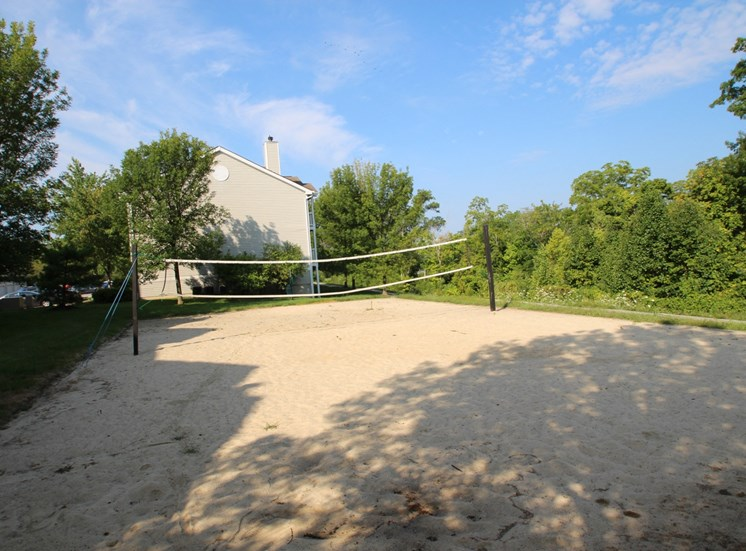 This is a photo of the sand volleyball court at Trails of Saddlebrook Apartments in Florence, KY.