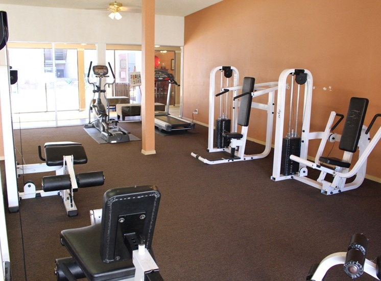 This is a photo of the 24-Hour Fitness Center at Princeton Court Apartments in Dallas, TX.
