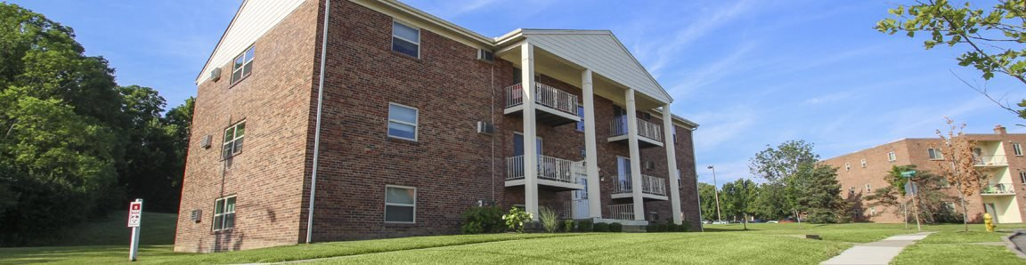 This is a photo of a building exterior at Aspen Village Apartments in Cincinnati. OH.