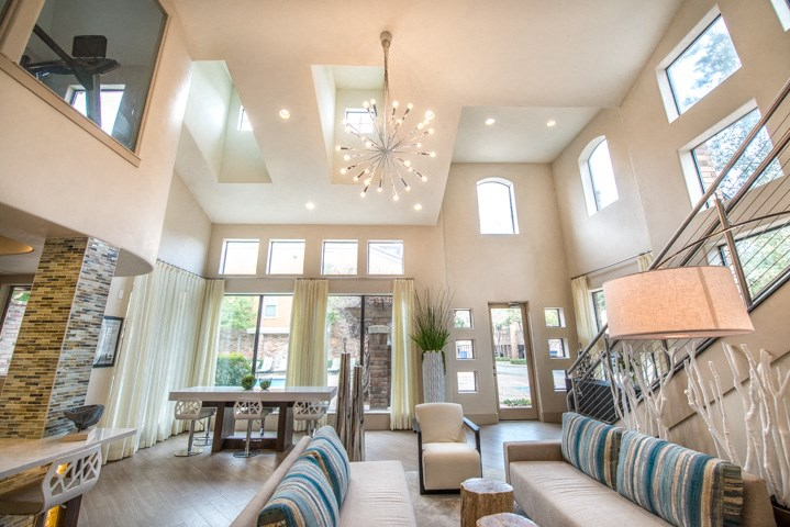 This is a photo of the Leasing Office/resident clubhouse at The Brownstones Townhome Apartments in Dallas, TX.