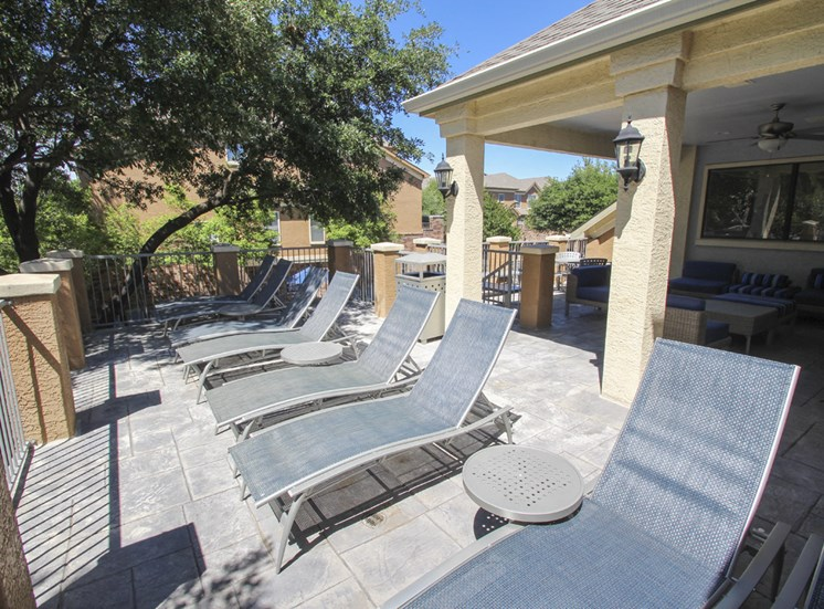 This is a photo of the sundeck at The Brownstones Townhome Apartments in Dallas, TX.