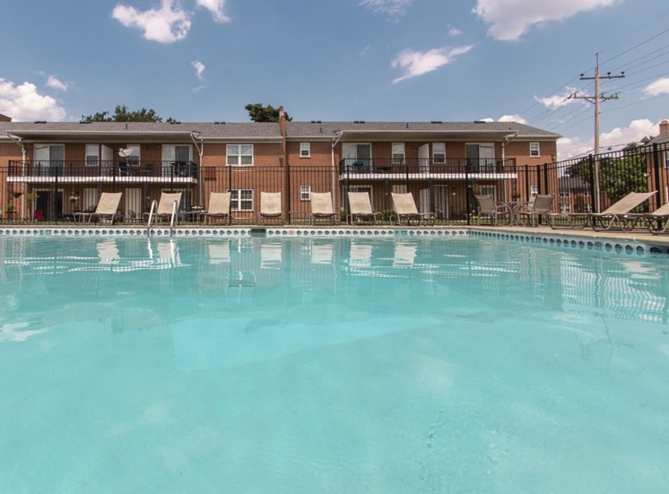 This is a photo of the pool area at Compton Lake Apartments in Mt. Healthy, OH.