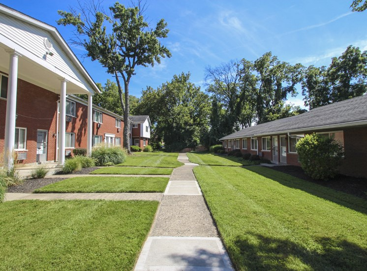 This is a photo of the grounds/building exteriors at Colonial Ridge Apartments in Cincinnati, OH.