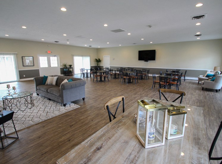 This is a photo of the resident clubhouse at Compton Lake Apartments in Mt. Healthy, OH.