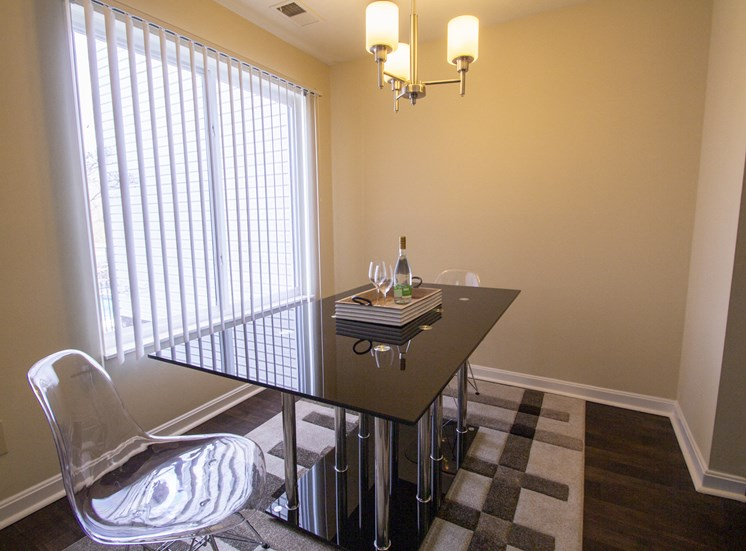 This is a photo of the dining room of a 1 bedroom apartment at Deer Hill Apartments in Cincinnati, OH.