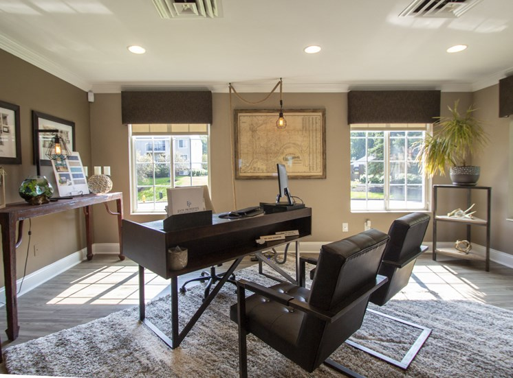 This is a picture of the Leasing Office interior at Deer Hill Apartments in Cincinnati Ohio.