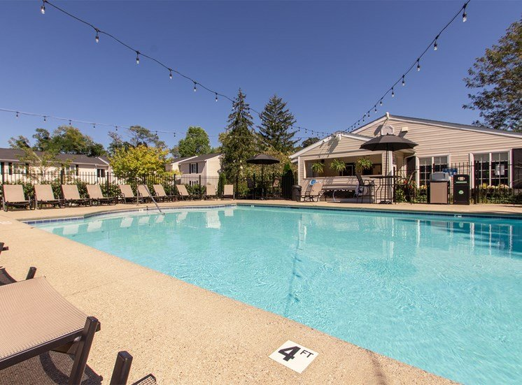 This is a picture of the pool area at Deer Hill Apartments in Cincinnati, Ohio.