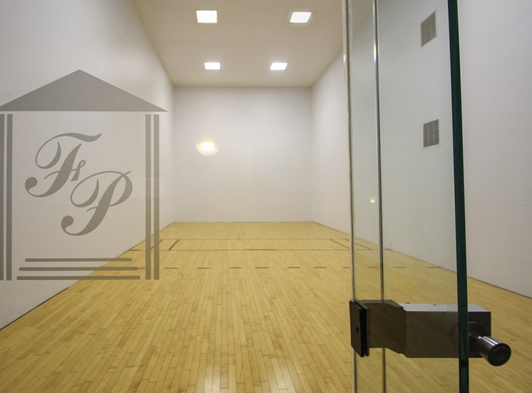 This is a picture of the requetball court at Fairfield Pointe in Fairfield, Ohio