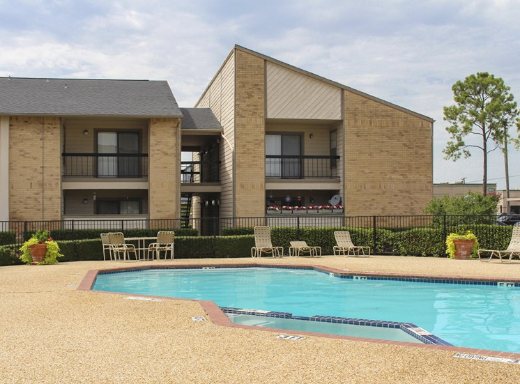 This is a picture of the pool area at Gateway Place Apartments in Garland, TX.