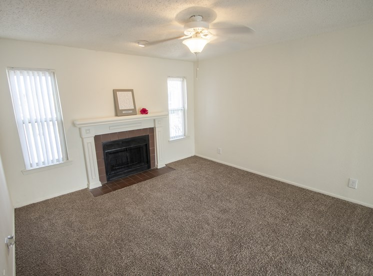 This is a photo of the living room in the 915 square foot 2 bedroom apartment at Gateway Place Apartments in Garland, TX.