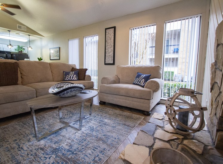 This is a picture of the Leasing Office interior at Gateway Place Apartments in Garland, TX.