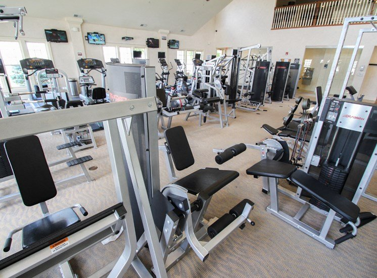 This is a photo of the Fitness Center at Nantucket Apartments in Loveland, OH.