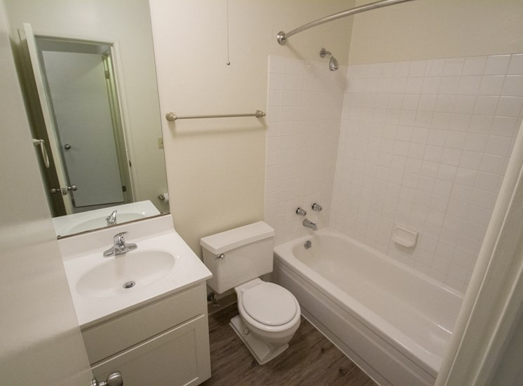 This is a photo of the bathroom in a 849 square foot 2 bedroom, 2 bath apartment at Park Lane Apartments in Cincinnati, OH.