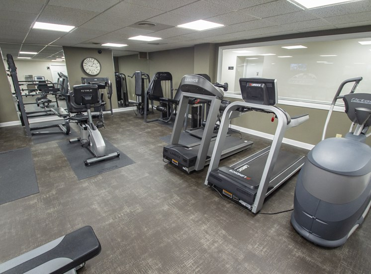 This is a photo of the 24-hour fitness center at Park Lane Apartments in Cincinnati, OH.