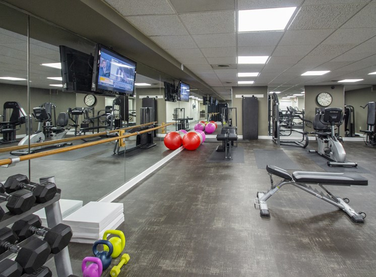 This is a photo of the fitness center at Park Lane Apartments in Cincinnati, OH.