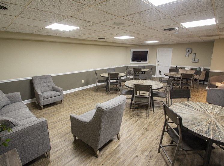 This is a photo of the resident social room at Park Lane Apartments in Cincinnati, OH.