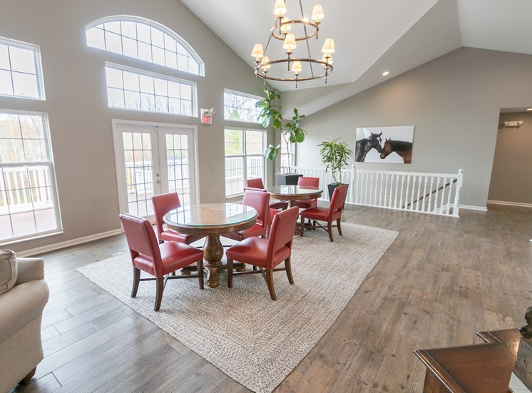 This is a photo of the resident clubhouse/Leasing Office interior at Trails of Saddlebrook in Florence, KY.