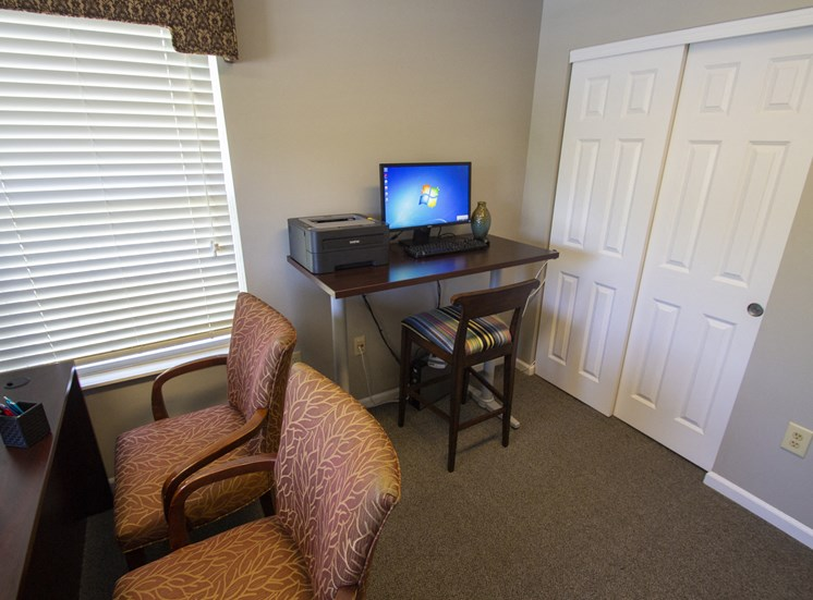 This is a photo of the business center at Trails of Saddlebrook Apartments in Florence, KY.