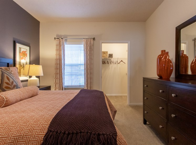 This is a photo of the second bedroom in the 1135 square foot 2 bedroom Retreat floor plan at The Sanctuary at Fishers Apartments in Fishers, IN.