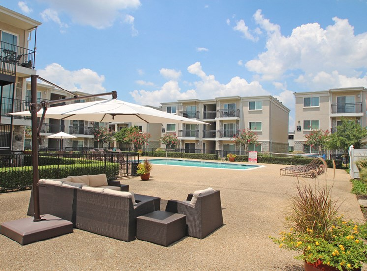 This is a photo of the pool area at The Summit at Midtown in Dallas, TX.
