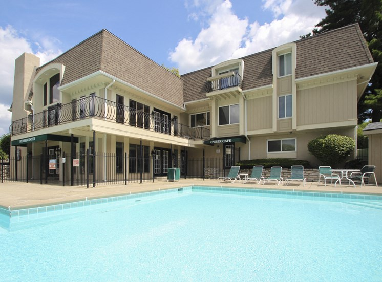 This is a photo of the pool area at Village East Apartments in Franklin, OH.