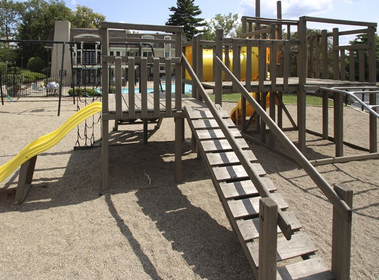 This is a photo of the playground at Village East Apartments in Franklin, OH.