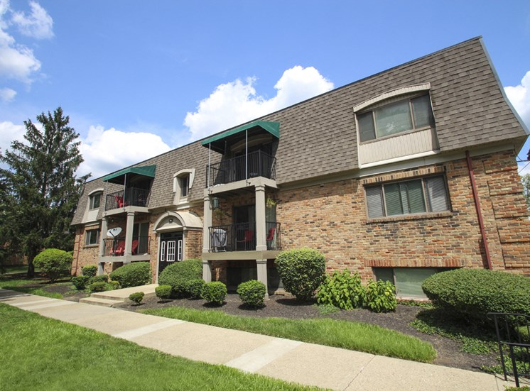 This is a photo of a building exterior at Village East Apartments in Franklin, OH.