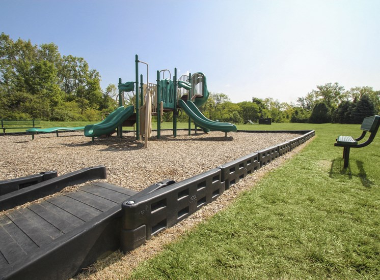 This is a photo of the playground at Place Apartments in Washington Township, OH