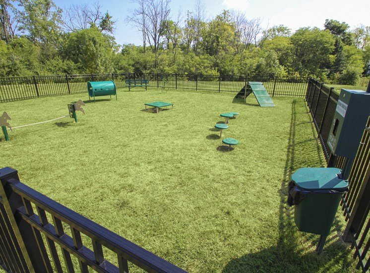This is a photo of the off-leash dog park at Place Apartments in Washington Township, OH