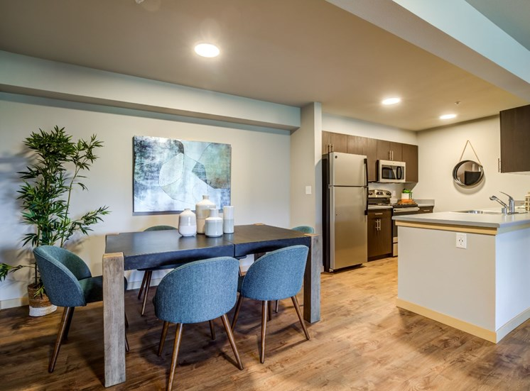 Dining Room and Kitchen View at Panorama, Snoqualmie, WA, 98065