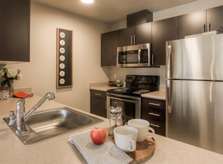 Fully Equipped Kitchen with Microwave, Dishwasher and USB Outlet