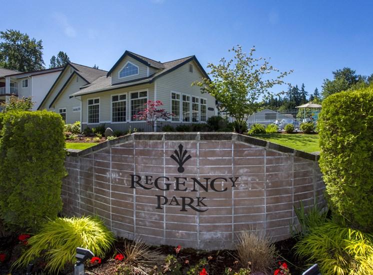 Regency Park entry Sign