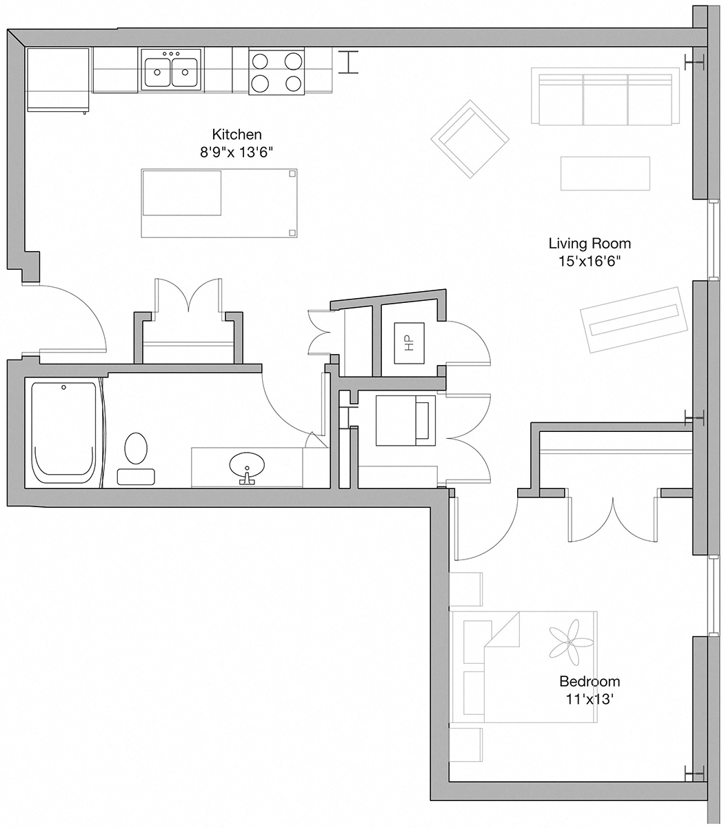 Suite A Floorplan