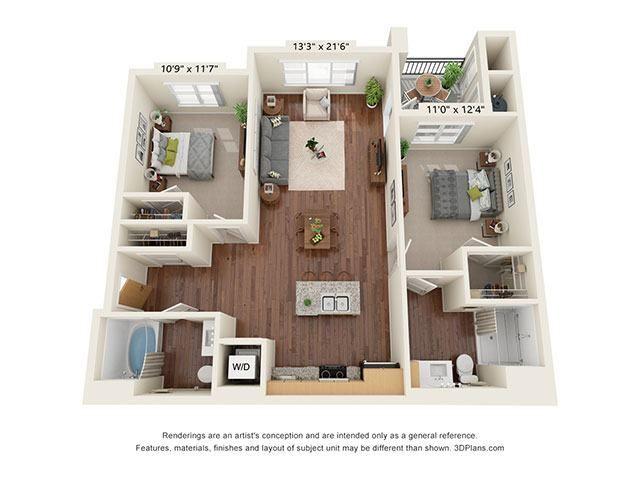 Scharbauer Flats_2 Bedroom Floor Plan_B1-ADA