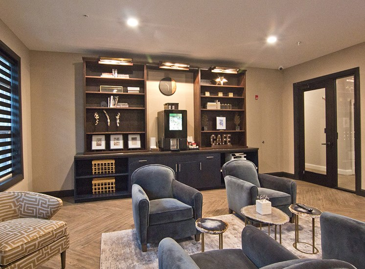 Clubhouse at luxury apartments in Highlands in Louisville KY
