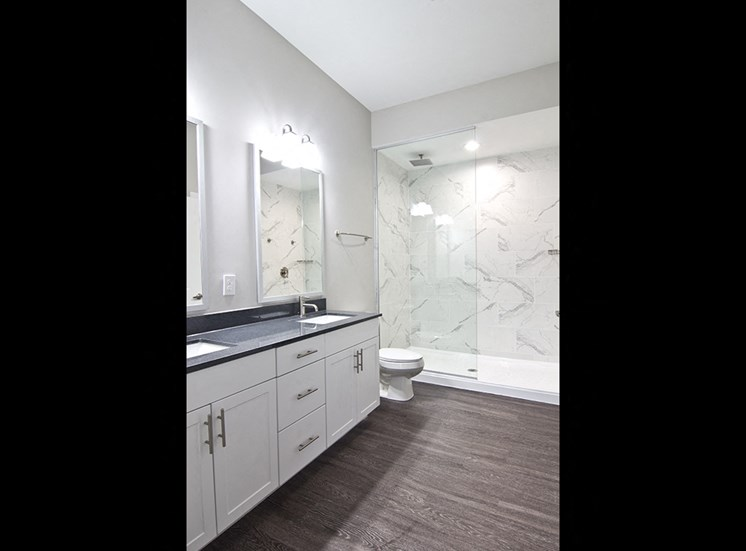 The Baxter Apartments luxury bathroom in Louisville KY