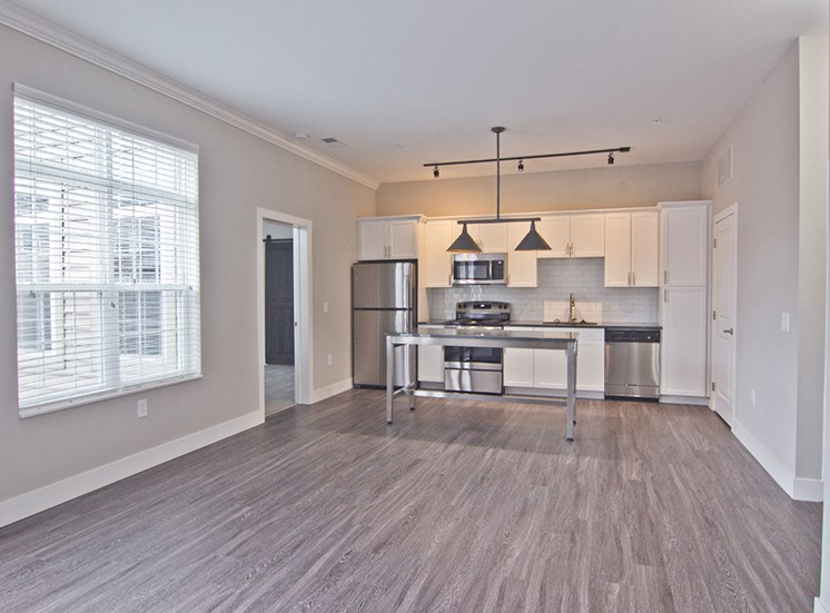 The Baxter Apartments open kitchen in Louisville KY