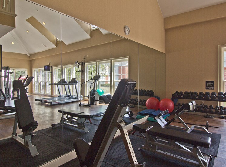 gym at the Orchard Apartments in Dublin OH