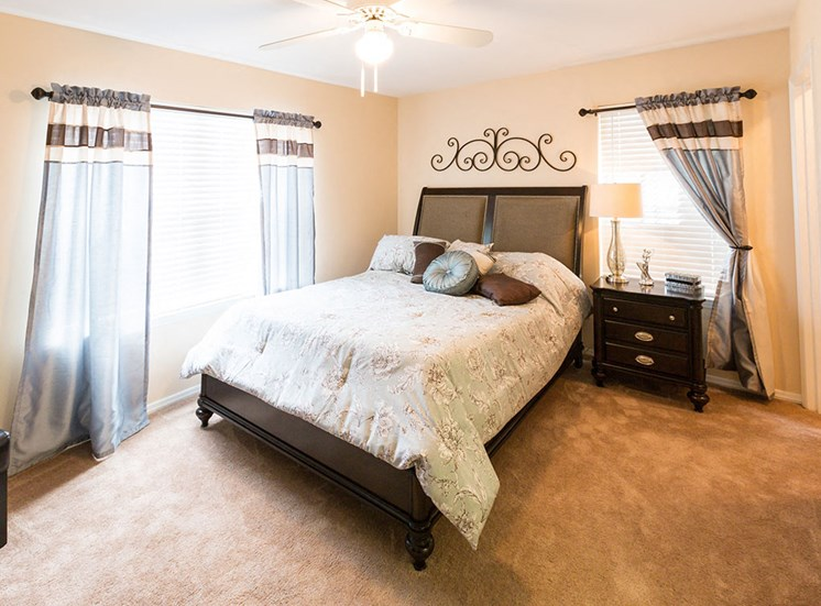 Master Bedroom  with bed and windows