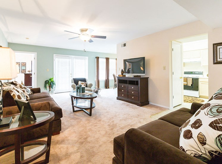 Living room at Crosstimbers Apartments