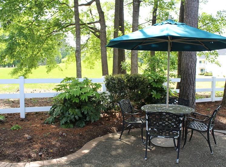 Table and umbrella Flintlake