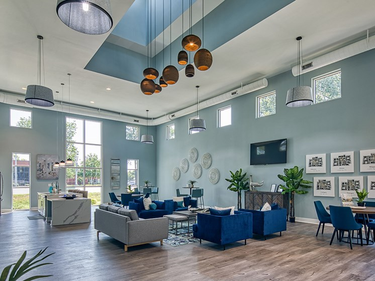 Interior of Clubhouse_Compass_At_City_Center Apartments_