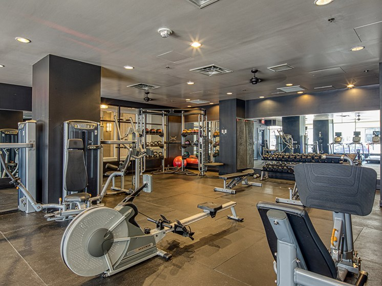 Gym at luxury apartments in Downtown Richmond VA